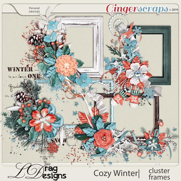 Cozy Winter: Cluster Frames by LDragDesigns