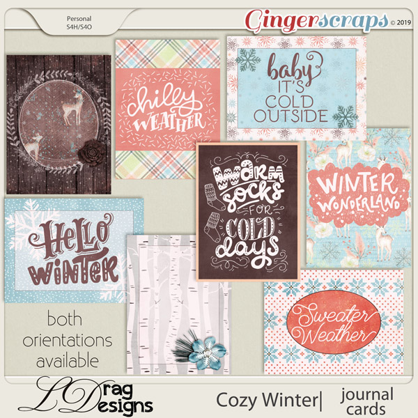 Cozy Winter: Journal Cards by LDragDesigns