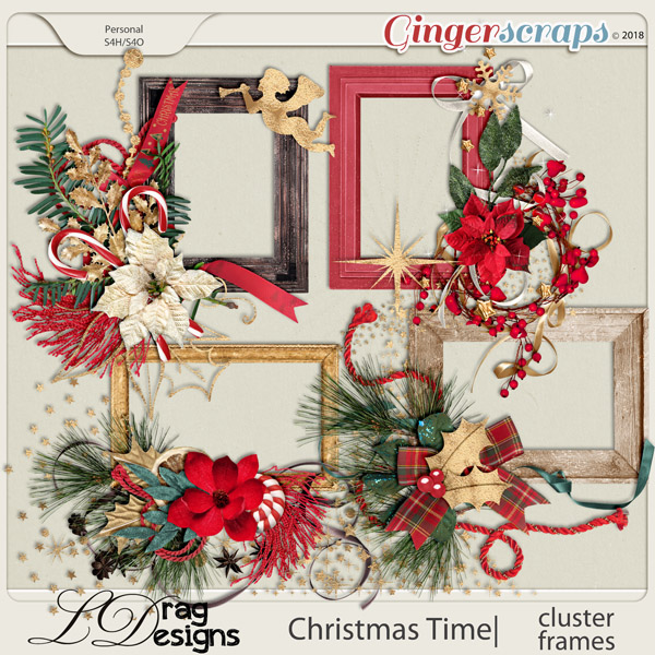 Christmas Time:Cluster Frames by LDragDesigns