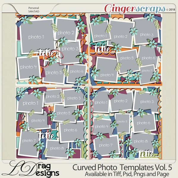 Curved Photo Templates Vol. 5 by LDrag Designs
