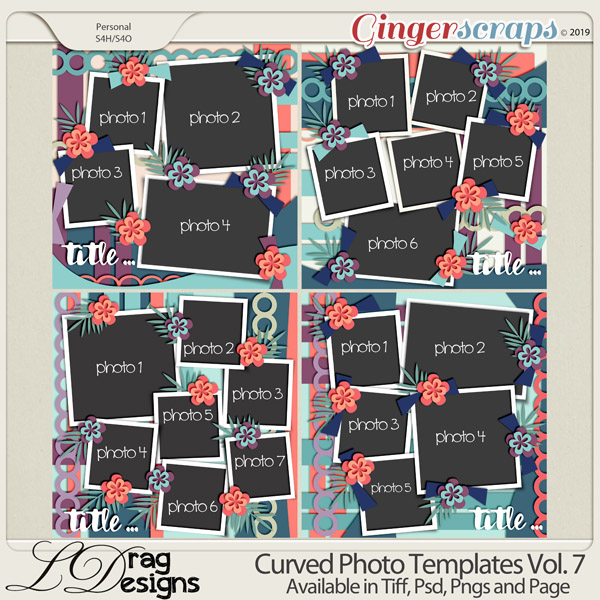 Curved Photo Templates Vol. 7 by LDrag Designs