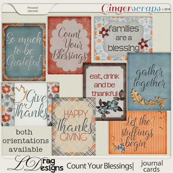 Count Your Blessings:Journal Cards by LDragDesigns