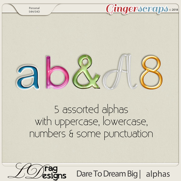 DareTo Dream Big: Alphas by LDrag Designs