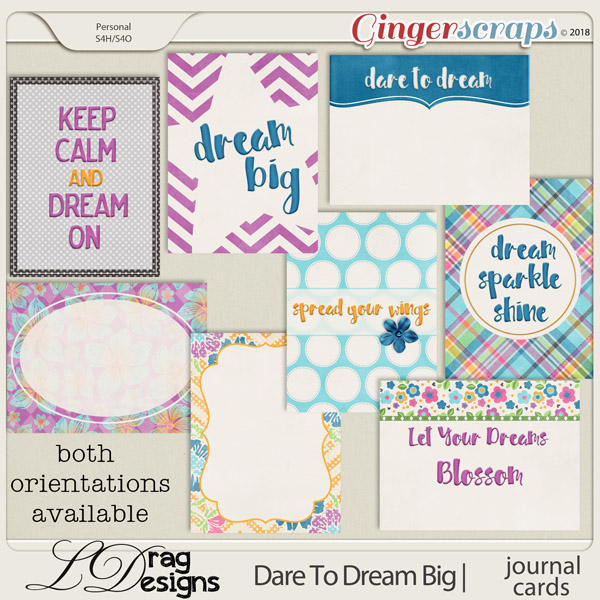 DareTo Dream Big: Journal Cards by LDrag Designs