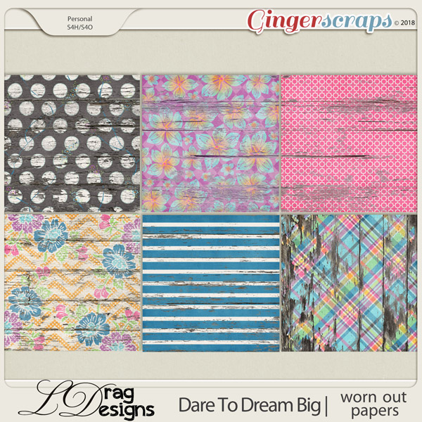 DareTo Dream Big: Worn Out Papers by LDrag Designs