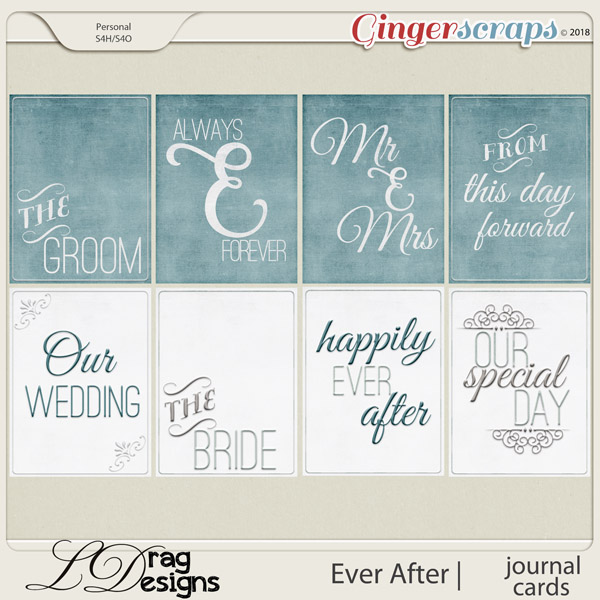 Ever After: Journal Cards by LDragDesigns