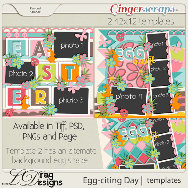 Egg-citing Day:Templates by LDragDesigns
