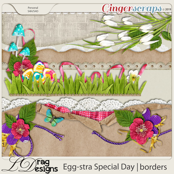 Egg-stra Special Day: Borders by LDragDesigns