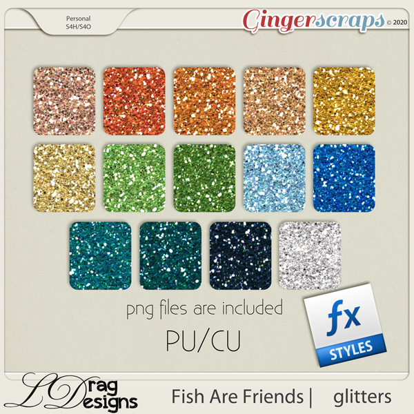 Fish Are Friends: Glitterstyles by LDragDesigns
