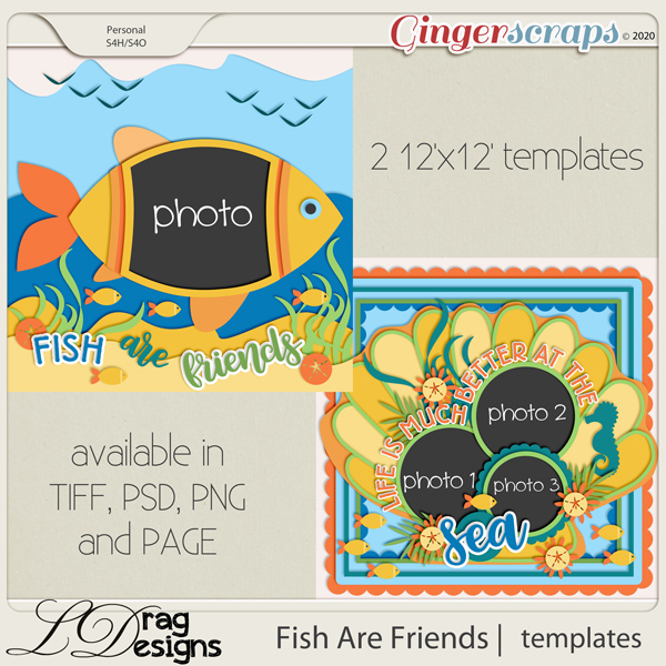 Fish Are Friends: Templates by LDragDesigns
