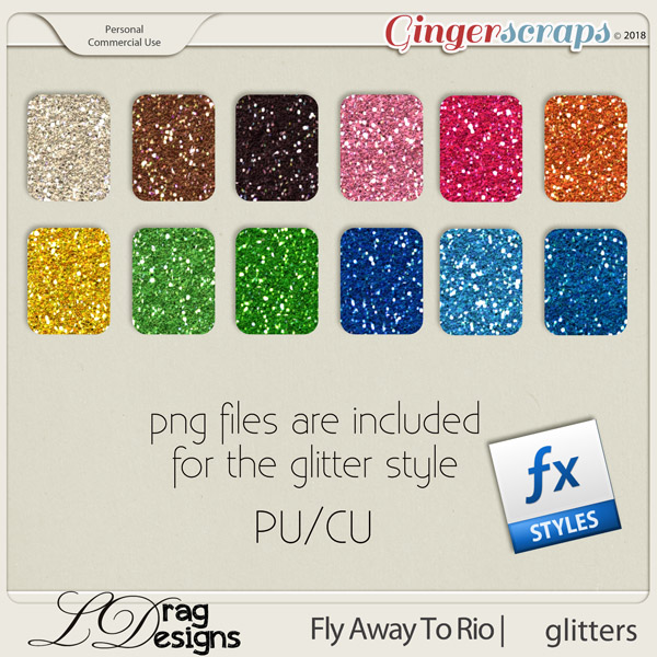 Fly Away To Rio: Glitterstyles by LDragDesigns