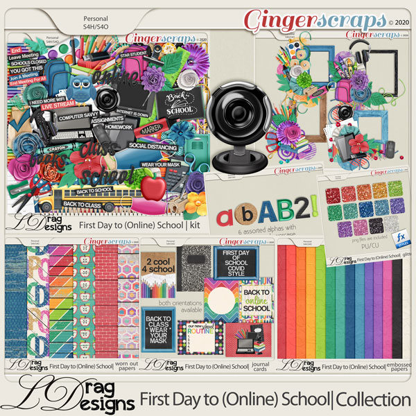 First Day To (Online) School: The Collection by LDragDesigns