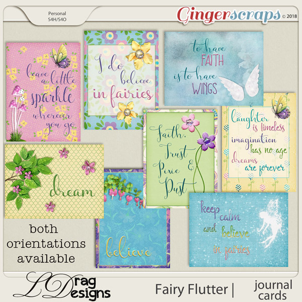 Fairy Flutter: Journal Cards by LDragDesigns