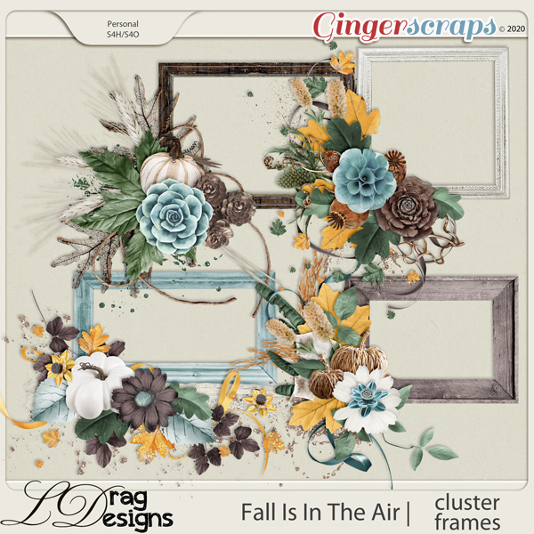 Fall Is In The Air: Cluster Frames by LDragDesigns