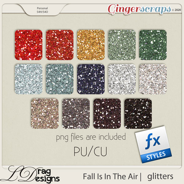 Fall Is In The Air: Glitterstyles by LDragDesigns