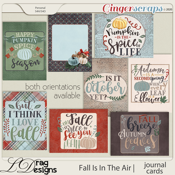 Fall Is In The Air: Journal Cards by LDragDesigns