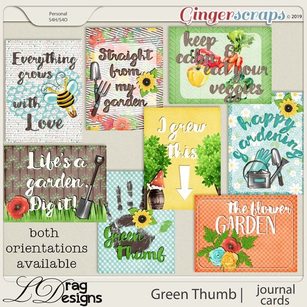 Green Thumb: Journal Cards by LDragDesigns