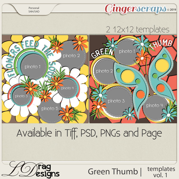 Green Thumb: Templates Vol. 1 by LDragDesigns