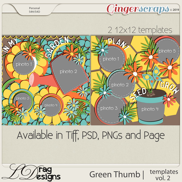 Green Thumb: Templates Vol. 2 by LDragDesigns