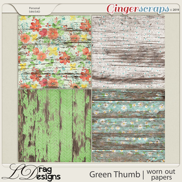 Green Thumb: Worn Out Papers by LDragDesigns