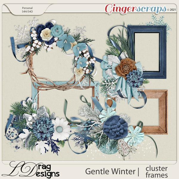 Gentle Winter: Cluster Frames by LDragDesigns
