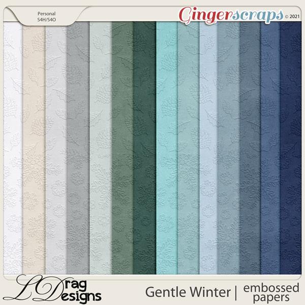 Gentle Winter: Embossed Papers by LDragDesigns