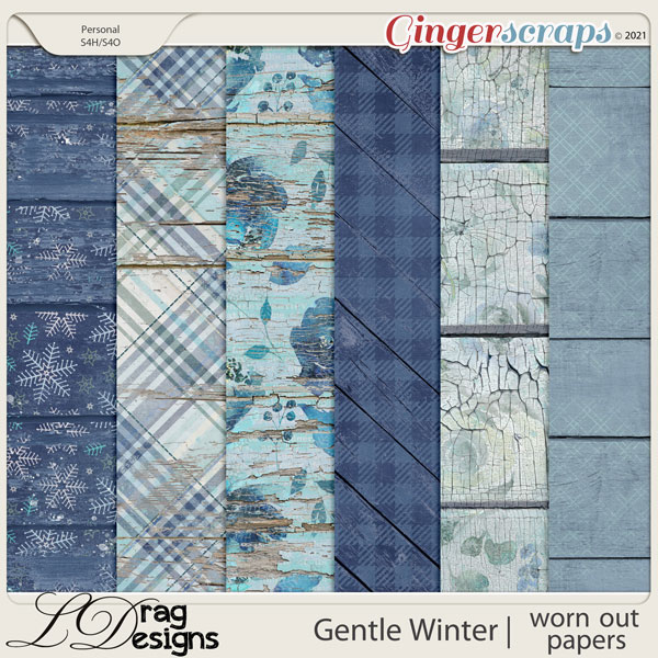 Gentle Winter: Worn Out Papers by LDragDesigns