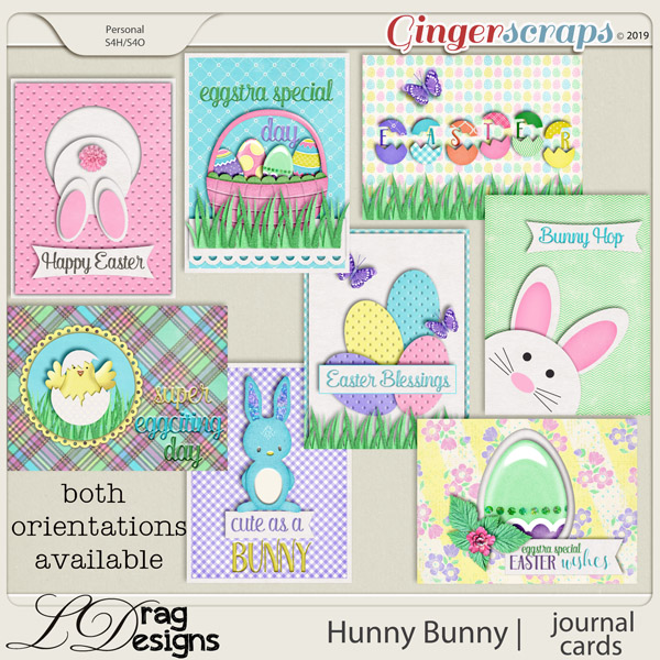 Hunny Bunny: Journal Cards by LDragDesigns