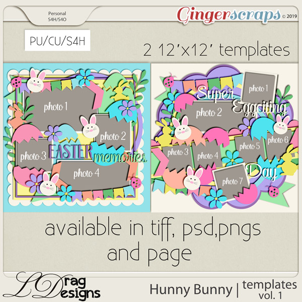 Hunny Bunny: Templates Vol. 1 by LDragDesigns