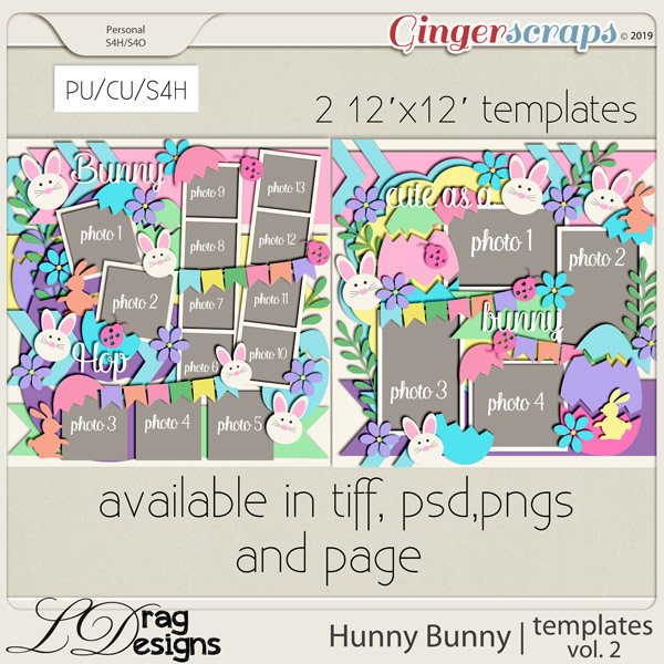Hunny Bunny: Templates Vol. 2 by LDragDesigns