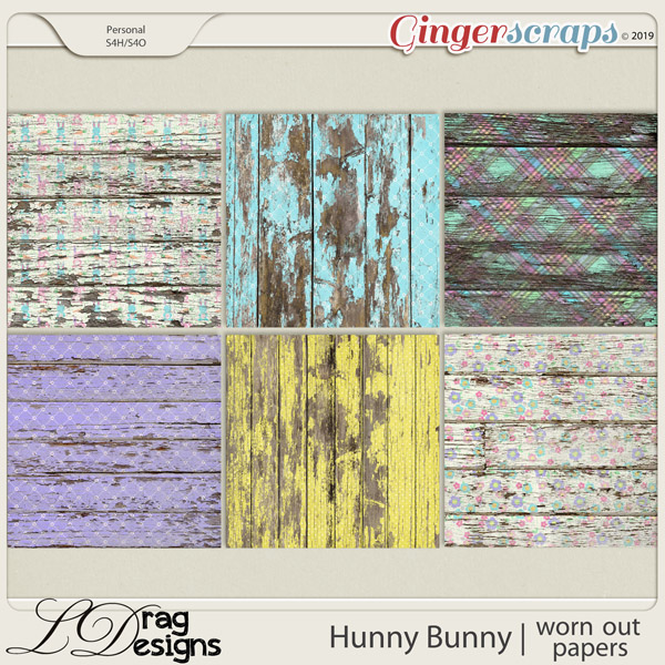Hunny Bunny: Worn Out Papers by LDragDesigns