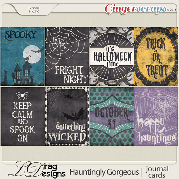 Hauntingly Gorgeous: Journal Cards by LDragDesigns