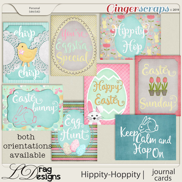 Hippity Hoppity: Journal Cards by LDragDesigns