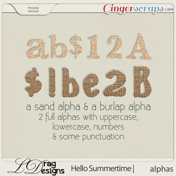 Hello Summertime: Alphas by LDragDesigns