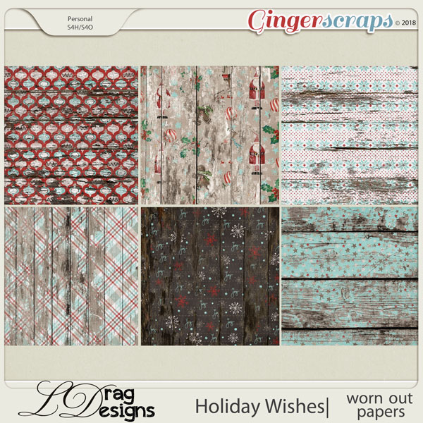 Holiday Wishes: Worn Out Papers by LDragDesigns