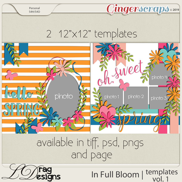 In Full Bloom: Templates Vol. 1 by LDragDesigns