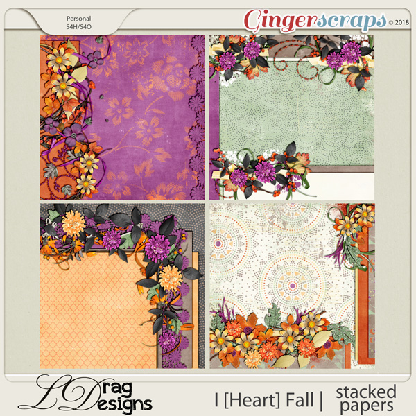 I [Heart] Fall: Stacked Papers by LDragDesigns