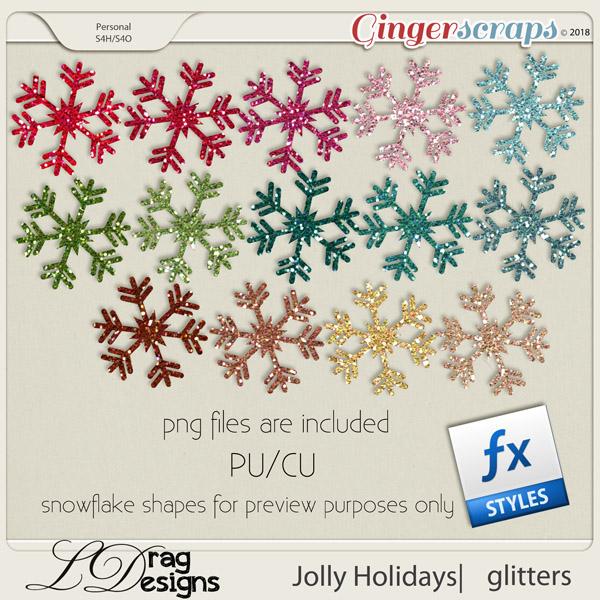 Jolly Holidays: Glitterstyles by LDragDesigns