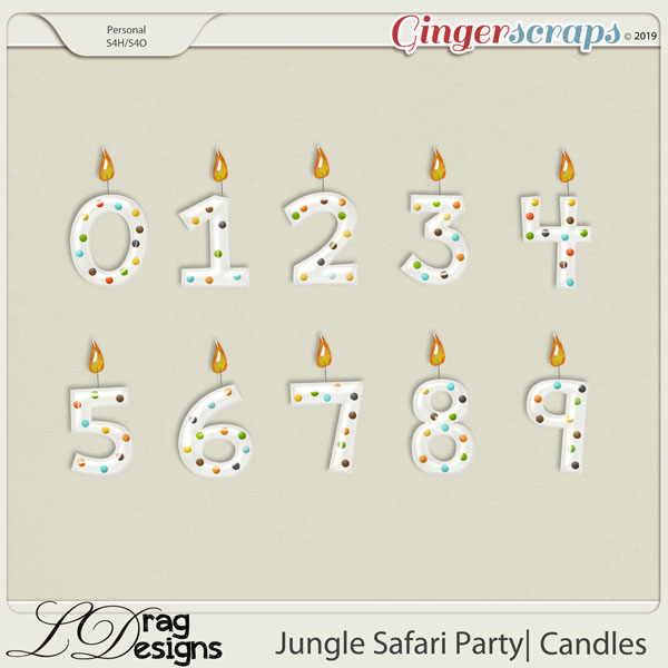 Jungle Safari Party: Candles by LDragDesigns