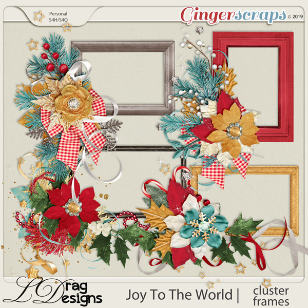 Joy To The World: Cluster Frames by LDragDesigns