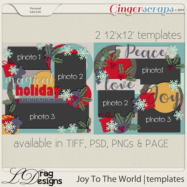 Joy To The World: Templates by LDragDesigns