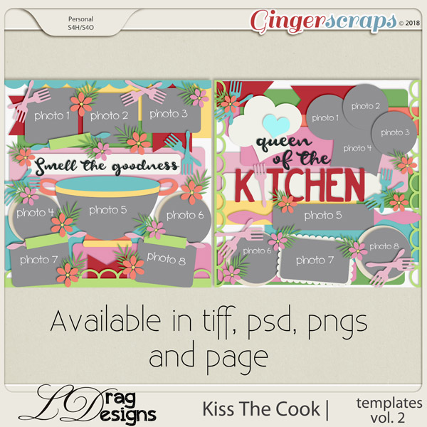 Kiss The Cook: Templates Vol. 2 by LDragDesigns