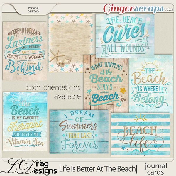 Life Is Better At The Beach: Journal Cards by LDragDesigns