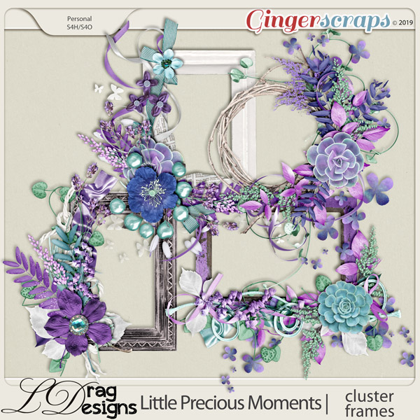 Little Precious Moments: Cluster Frames by LDragDesigns