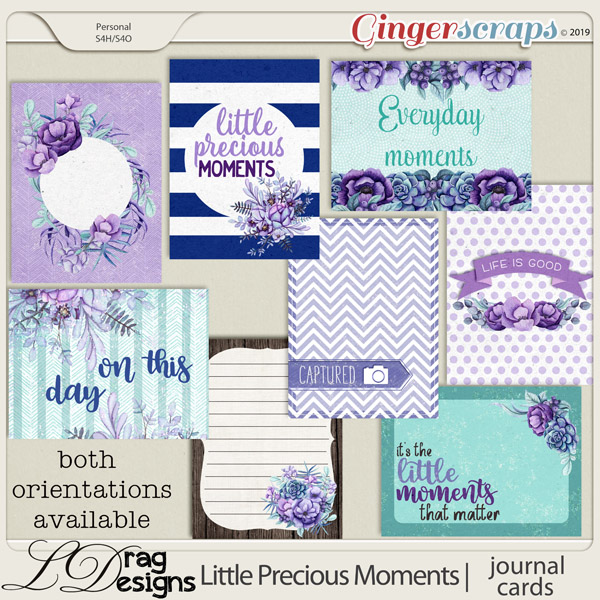 Little Precious Moments: Journal Cards by LDragDesigns