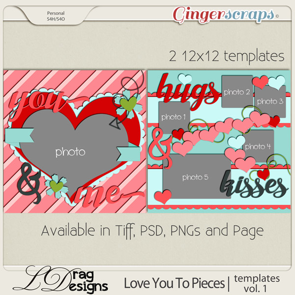 Love You To Pieces: Templates Vol. 1 by LDragDesigns