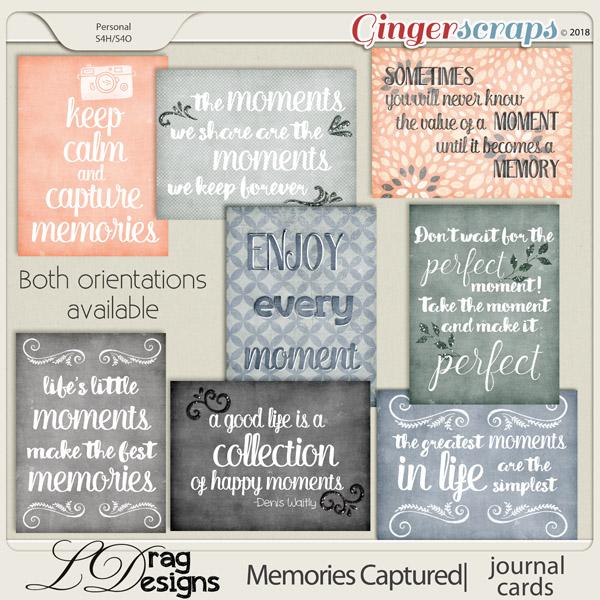 Memories Captured: Journal Cards by LDragDesigns