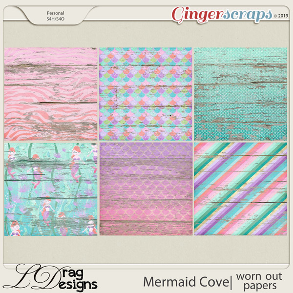 Mermaid Cove: Worn Out Papers by LDragDesigns