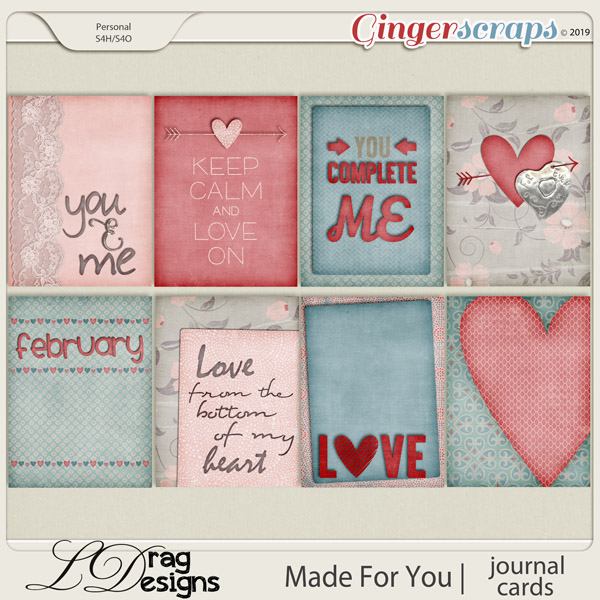 Made For You: Journal Cards by LDragDesigns