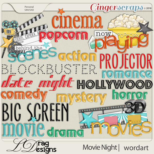 Movie Night: Wordart by LDragDesigns